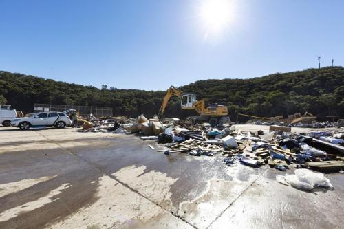 Mixed Waste drop-off at Kimbriki Resource Recovery Centre, Zone 7